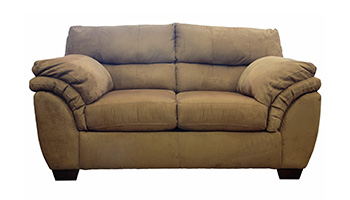 Brown Leather Consignment Sofa