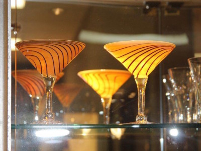 Elegant Orange Glassware