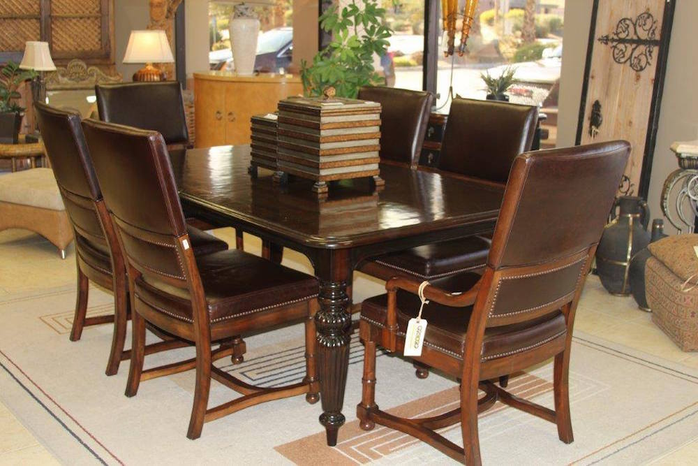 High quality dining room table and chairs encore consign for High quality dining room furniture