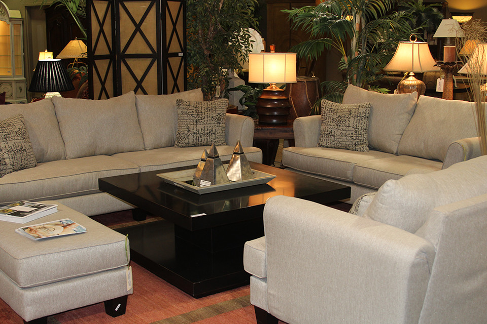 Living Room Set With Beige Couch Loveseat Arm Chair And