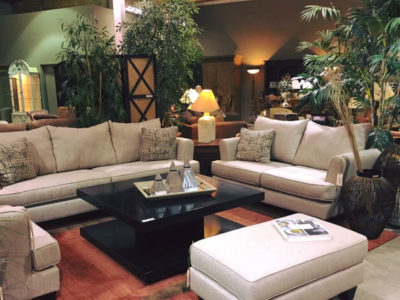 Living Room Set with Sofa and Loveseat and Matching Arm Chair and Ottoman