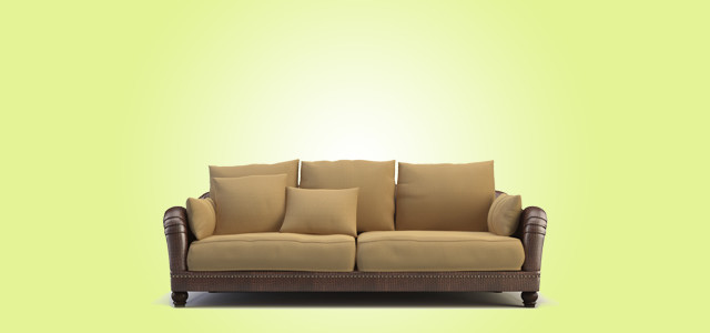 Sofa With Green Background