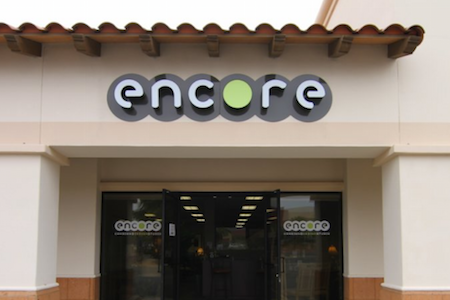 Storefront Of Encore Consign + Design In La Quinta