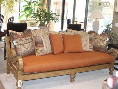 Electic Burnt Orange Sofa