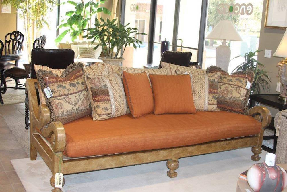 Amazing Electic Burnt Orange Sofa 3 Encore Consign Design Studio Machost Co Dining Chair Design Ideas Machostcouk
