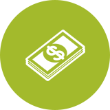 Lime Green Money Icon