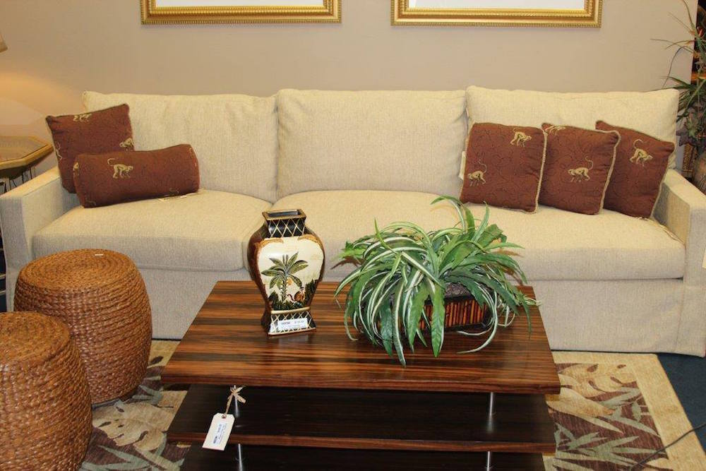 White Sofa With A Coffee Table Encore Consign Design