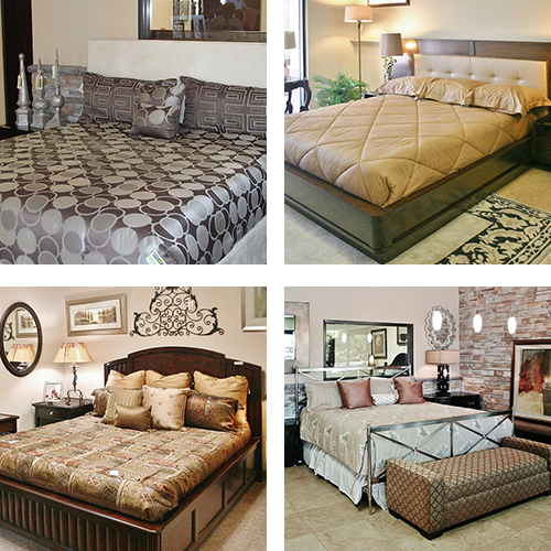 Bedroom furniture sets - collage of bed types