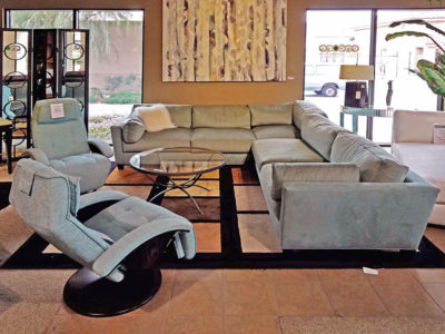 Roche-Bubois Sectional Couch with Recliners