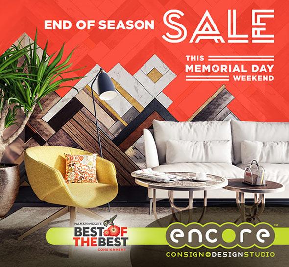 Encore Consign+Design End of Season Sale